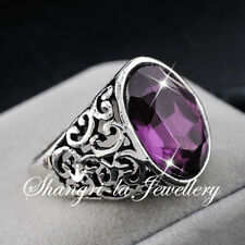 Cocktail Amethyst Stone Fashion Rings