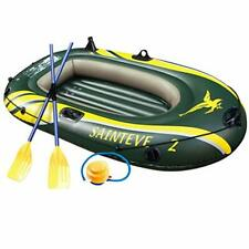 WASAKKY 4 Person Inflatable Boat - Thicken Raft Kayak Assault Rubber Boats,Wear-