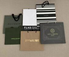 Designer Carrier Bags 6 NEW Zadig & Voltaire, Longchamp, Joseph, Golden Goose
