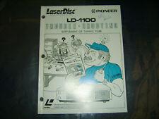 Pioneer LD-1100 Trouble Shooting Supplement of Tuning Fork LaserDisc Repair Book