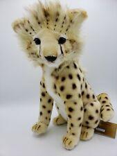 NWT Hansa Sitting Cheetah Cub Stuffed Plush Animal 32 cm 12 in