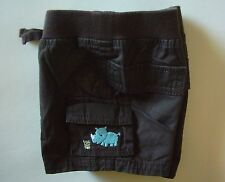 NWT Gymboree Rhino Cutie Brown Pull on Canvas Cargo Shorts 0 3