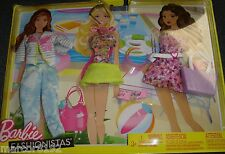Barbie Doll Fashionistas Clothing Beach Pack 3 Fashions Oufits new