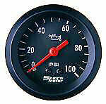 "Speco Mechanical Oil Pressure Gauge 2"" 0-100 PSI Street Series 533-16"