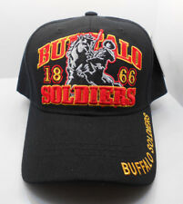 Buffalo Soldiers 1866  Ball Cap Hat In Black HH-7