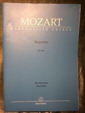 Mozart Requiem KV 626 réduction chant piano partition éditions Barenreiter