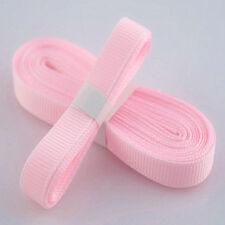 "5yds 3/8"" (10 mm) Pink Solid Christmas Grosgrain Ribbon Hair Bows Ribbion#"