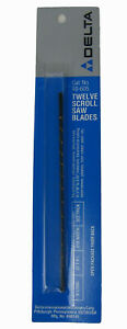 """Delta Scroll Saw Blades x 12, 5"""" Long, 27T.P.I, .010 Width, .022 Thick"""