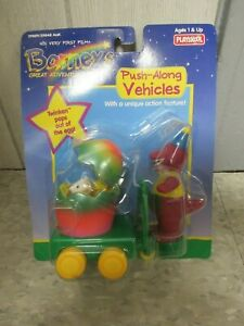 Barney's Great Adventure Movie Push-Along Vehicles Barney with Twinken VHTF