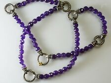 Barbara Bixby Amethyst Bead Sterling 18K Gold Necklace