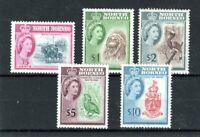 North Borneo 1961 75c to $10 MLH
