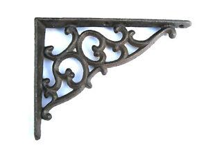 Gußeisen Regalwinkel 13 x 18 cm Wandhalterung Winkel Regalträger Eisen floral