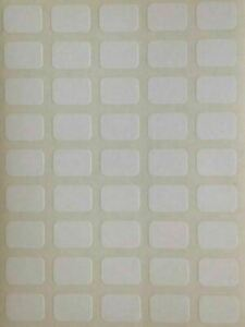 225 Small White Sticky Labels 9 x 13 mm Price Stickers Tags Plain Price Labels