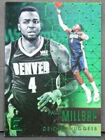 2017-18 Panini Essentials Green Parallel Paul Millsap Denver Nuggets Holo Prizm