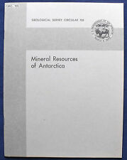 Usgs Mineral Resources Of Antarctica! Gold Silver Copper Iron Cool! Vintage 1974