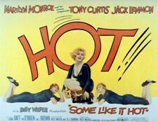Some Like It Hot Movie Poster 1959 Marilyn Monroe Hot 4