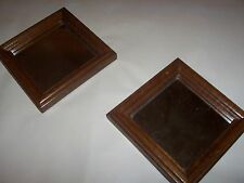 """Wooden 5"""" Square Mirror Vintage Home Interiors Homco set of 2"""