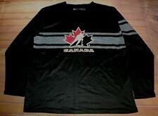 Long Sleeve LS Shirt Canada Hockey Molson Canadian Beer Logo Promo Large Black