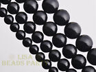 30pcs 6mm Round Black Obsidian Gemstone Loose Spacer Beads Jewelry Findings
