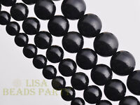 50pcs 4mm Round Black Obsidian Gemstone Loose Spacer Beads Jewelry Findings