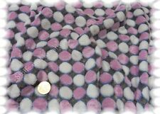 Wellnessfleece Dots rosa Fleece Plüsch 50 cm Punktefleece