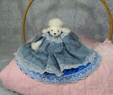 "7"" Handmade Cone Air Freshener Cover White Poodle in Blue Dress Maybe for Glade?"