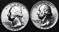 1935-S 1942-S Washington Quarter Dollar Lot  ---- Gem BU  ---- #S994