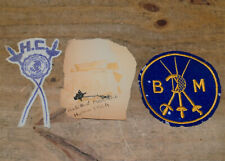 Vintage Fencing Patches & Pinbacks Blade And Mask Club Harlem Ymca