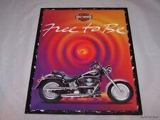 4 Harley Davidson FLSTF Fat Boy Portfolios Folders School Supplies
