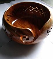 "Rosewood Hand Crafted 6""x 3"" Wooden Yarn Bowl | Knitting Bowl yarn handmade Gift"