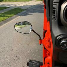 HG Universal Door Hinge Mirrors Matte Black Stainless For Jeep Wrangler YJ TJ JK