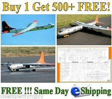 "B36 Peacemaker 114""WS Scale RC Airplane Full Size Plans & Templates  PDF Format"