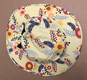 Patagonia Bucket Hat. Girl's Size: Small. Youth Floral Patterns Yellow