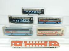 bd294-0,5 # 5x WIKING H0 / 1:87 BUS MERCEDES / MB RHD O 303: 712/1+712 ,NUEVO +
