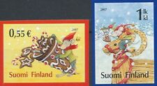 Finland 2007 Mnh 2 Stamps - Christmas - Snow - Gingerbread - Straw Buck - Mouse