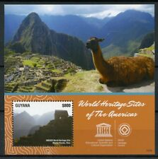 Guyana 2015 MNH UNESCO World Heritage Sites 1v S/S Machu Picchu Peru Stamps