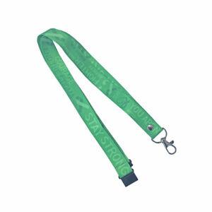 Mental Health Awareness Lanyard - neck strap, ID HOLDER Safety clip Green ribbon