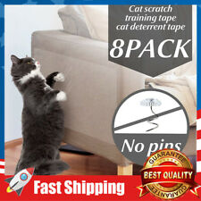 8 Pack Cat Double Sided Clear Anti-Scratch Couch Furniture Protector Large Size