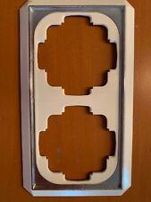Gira Trias Gala Rahmen 2fach Goldkante cremeweiß