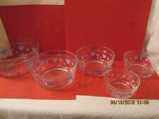 Patriotic Bowls (5 nesting bowls) Red, White, Blue design
