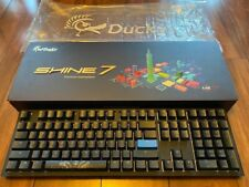 Ducky Shine 7 Blackout Cherry MX Blue RGB LED Double Shot PBT Mech. Keyboard