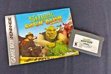 Shrek Smash N Crash Nintendo Game Boy Advance Cartridge + Manual TESTED