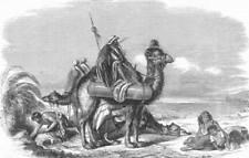 INDIA. Moving boilers across Suez Isthmus, antique print, 1858