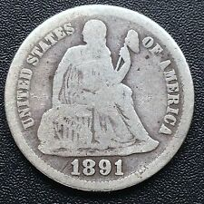 USA 1891 Seated Liberty Dime Philadelphia Silber Selten 1812