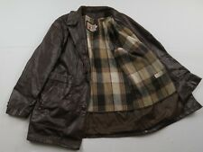 Vtg Mens Sears Leather Shop Brown Jacket Size 42 R Lined Motorcycle Western Coat