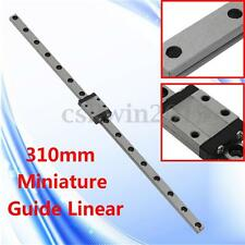 310mm Miniature Linear Rail Guide CPC MR9MN + Bearing Slide Block For CNC Router