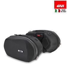 Pair Side Panniers Motorrad Easylock GIVI 3D600 Expandable Capacity 25 L