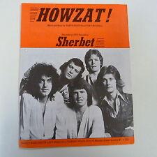 songsheet HOWZAT ! Sherbet 1976