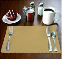 """1000 Raise® Kraft Paper Placemats, Scalloped Edge, 10""""x14"""" place mats,Disposable"""