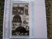 CLEAR RUBBER STAMPS  CHRISTMAS CARRIAGE WINTER GREETINGS VINTAGE VICTORIAN STYLE